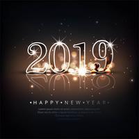 Arrière-plan de texte belle bonne année 2019 vecteur