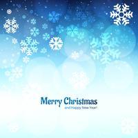 Fond de carte de joyeux Noël décoratif flocon de neige vecteur
