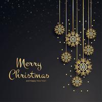 Beau fond de carte flocon de neige joyeux Noël vecteur