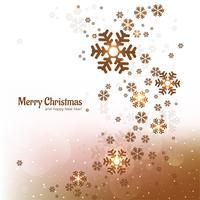 Flocon de neige décoratif fond joyeux Noël vecteur