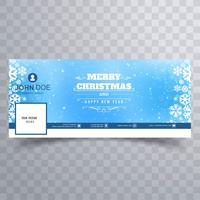 Joyeux Noël flocon de neige avec le vecteur de bannière bannière facebook