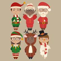 Personnages de Noël de vecteur