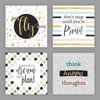 Cartes vectorielles d'encouragement vecteur