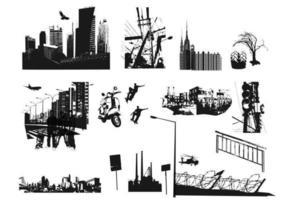 Ensemble vectoriel des rues de la ville