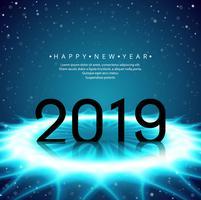 Beau fond de festival de texte bonne année 2019 vecteur
