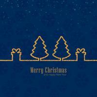 Joyeux Noël fond de célébration vecteur