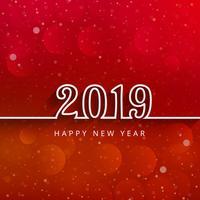 2019 fond de célébration de bonne année vecteur