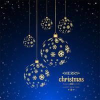 Fond décoratif de joyeux Noël boule vecteur