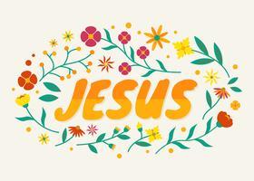 Vecteur de typographie de Jésus