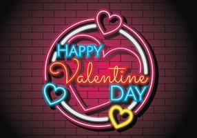 Enseigne au néon de la Saint-Valentin vecteur