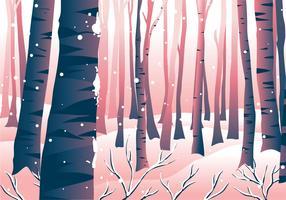 Paysage de scène de forêt d'hiver