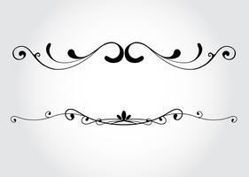 Éléments de design décoratif de vecteur