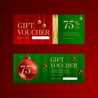Modèles de chèques cadeaux pour Noël vecteur
