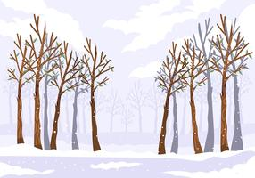 Forêt d'hiver vecteur
