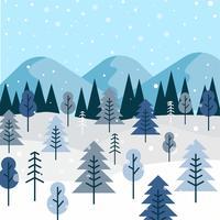 Vecteur de forêt d'hiver