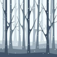 Neige hiver forêt nature illustration fond