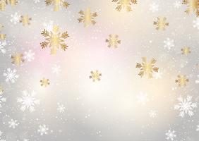 Flocons de neige de Noël vecteur