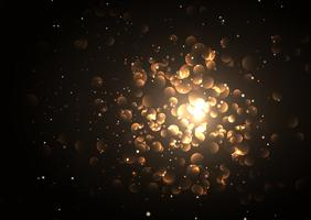Lumières de bokeh dorées