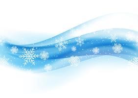 fond de Noël avec des flocons de neige sur dégradé bleu 1110 vecteur