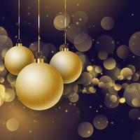 Boules de Noël sur un fond de lumières bokeh