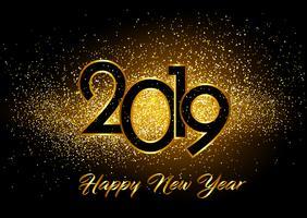 Bonne année fond avec effet de paillettes vecteur