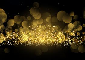 Fond scintillant d'or scintillant vecteur