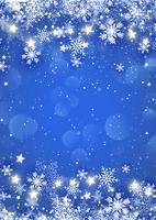 Flocons de neige et étoiles de Noël vecteur