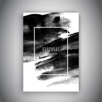Conception de brochure d'entreprise avec une texture aquarelle grunge vecteur