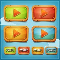 Boutons de lecture et icônes pour le jeu Ui vecteur