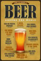 Comment commander une affiche de bière autour du monde vecteur
