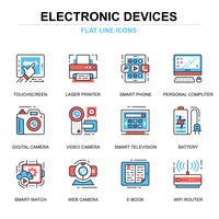 Appareils électroniques Icon Set vecteur