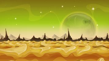Fantasy Sci-Fi Alien Planet Background pour le jeu de l'interface utilisateur