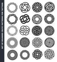 Cercles et bagues celtiques pour la conception de tatouage vecteur