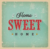 Home Sweet Home Carte Vintage