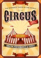 Affiche Vintage Grand Cirque Avec Chapiteau