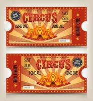 Billets d'entrée Vintage Circus vecteur