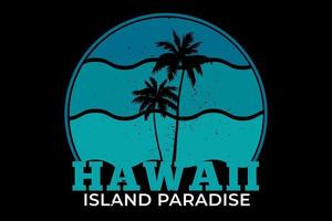 tee shirt plage hawaii island paradise vecteur