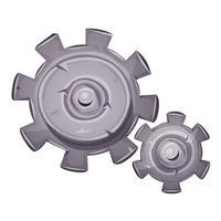 dessin animé pierre engrenages vecteur