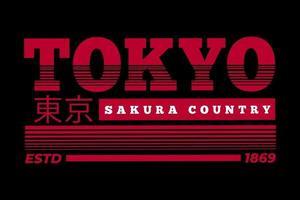 tee shirt tokyo skura country design vintage vecteur