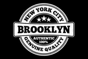 tee shirt typographie brooklyn new york qualité style vintage vecteur