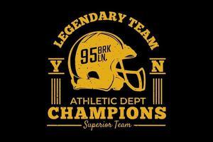t-shirt typographie champions athlétiques design vintage vecteur
