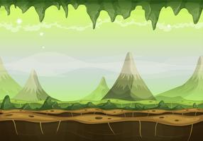Paysage extraterrestre de science-fiction fantastique pour le jeu Ui