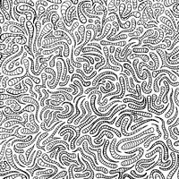 Doodle motif dessiné à la main pour cahier de coloriage vecteur