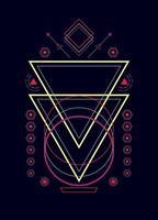 Éléments de conception de vecteur d'ornement de géométrie sacrée pour le fond