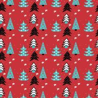 Motif d'arbres de Noël vecteur