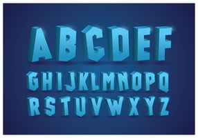 Alphabets glacés avec fond bleu