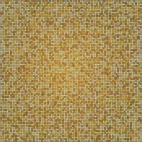texture mosaïque avec des carrés d'or motif demi-teinte doré vecteur