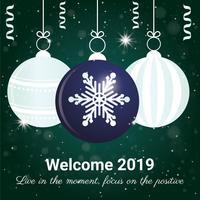 Conception de carte de voeux de nouvel an de vecteur