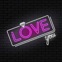 signe de la Saint-Valentin amour néon
