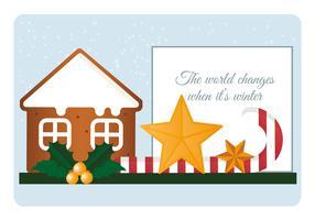 Illustration vectorielle d'éléments de Noël vecteur